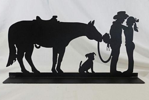 Featured Photo of Western Metal Art Silhouettes