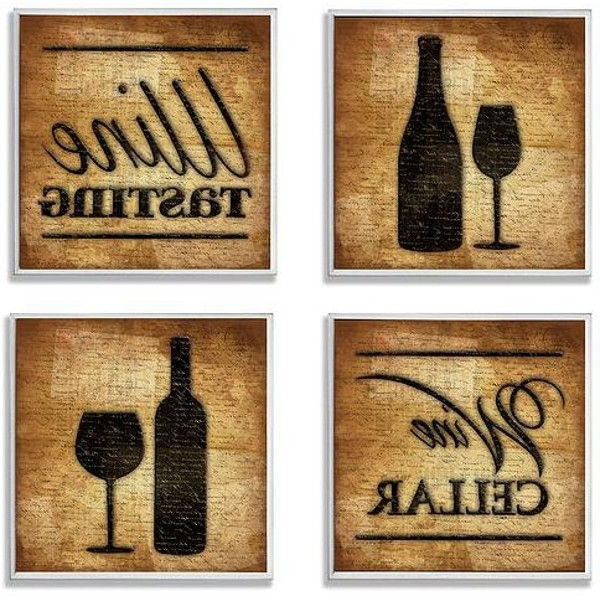 Most Recent Wine Theme Wall Art (Set Of 4) Throughout Wine Theme Wall Art (View 4 of 15)