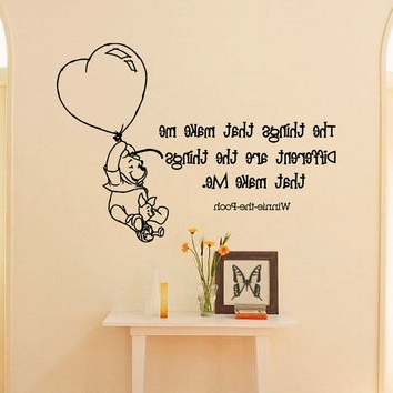 Most Recent Winnie The Pooh Nursery Quotes Wall Art In Wall Decals Quotes – Winnie The Pooh The From Fabwalldecals On (View 13 of 15)