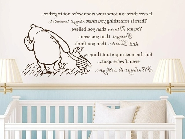 Most Recent Winnie The Pooh Vinyl Wall Art In Free Shipping Winnie The Pooh Vinyl Wall Stickers If Ever There Is A (View 4 of 15)
