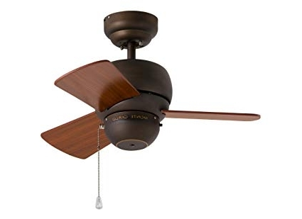 Most Recently Released 24 Inch Outdoor Ceiling Fans With Light For Monte Carlo 3Tf24Rb, Micro 24 Inch Ceiling Fan, Indoor/outdoor (View 2 of 15)
