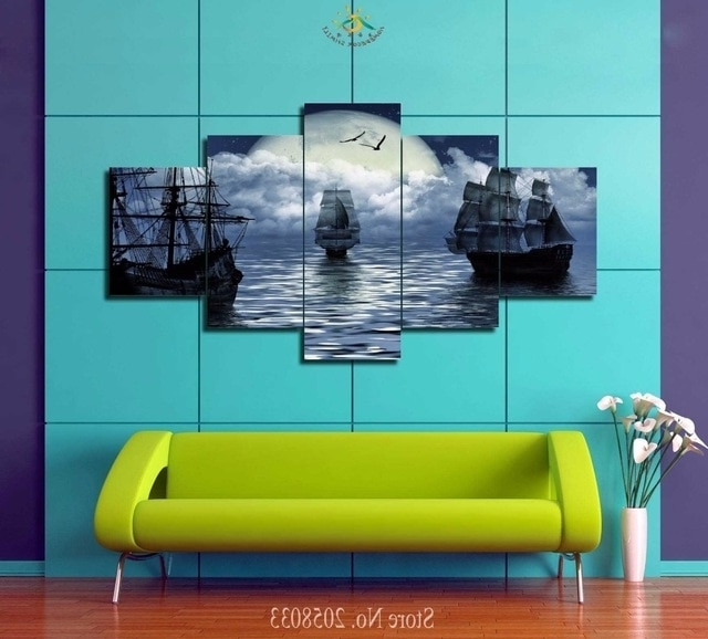 Most Recently Released 3 4 5 Pieces Limited Edition Sailing Ship Painting Wall Art Prints Throughout Limited Edition Wall Art (View 11 of 15)