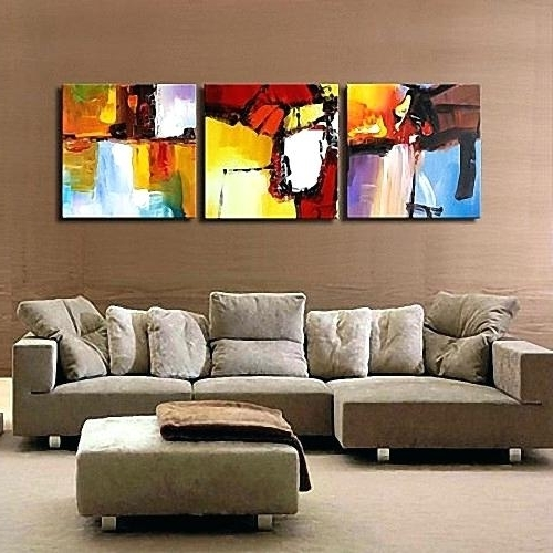 Most Recently Released Abstract Triptych Canvas Wall Art Three Panels High Quality Ready To Inside Abstract Canvas Wall Art Australia (View 10 of 15)