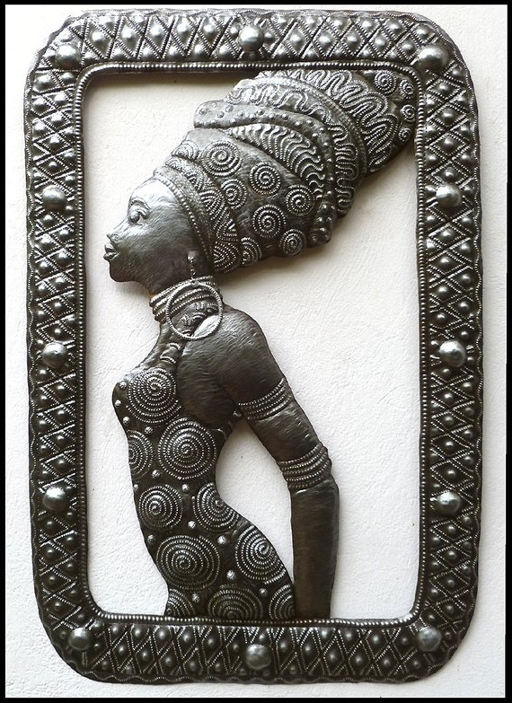 Most Recently Released African Metal Wall Art Throughout Metal Wall Hanging African Woman Ethnic Art Wall Art Metal (View 10 of 15)