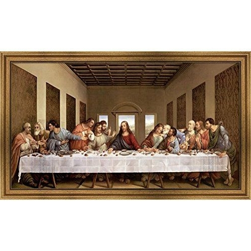 Most Recently Released Amazon: The Last Supperleonardo Da Vinci Framed Art Print For The Last Supper Wall Art (View 10 of 15)