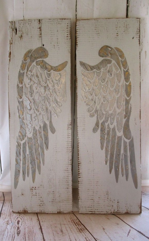 Most Recently Released Angel Wings Wall Art Throughout Angel Wings, Wood Angel Wings, Large Angel Wings, Angel Wing Wall (View 7 of 15)