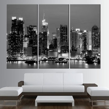 Most Recently Released Black And White New York Canvas Wall Art Intended For Shop New York Skyline Wall Art On Wanelo (View 2 of 15)