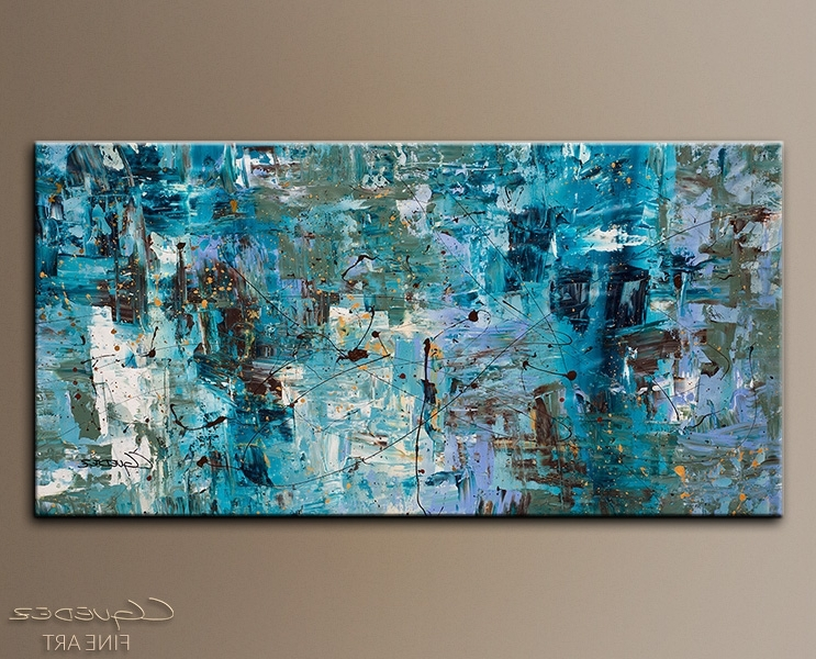 Most Recently Released Blue Abstract Wall Art Regarding Artistic Large Abstract Canvas Art At Paintings For Sale Oversized (View 7 of 15)