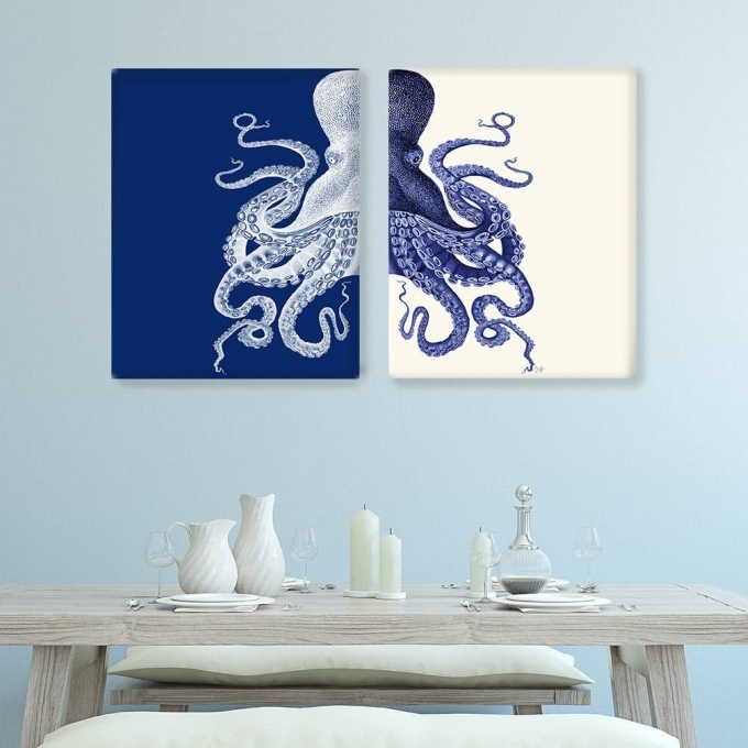 Most Recently Released Blue And Cream Wall Art Inside 15 Blue Bathroom Wall Art, Blue Bathroom Wall Art Items Similar To (View 10 of 15)