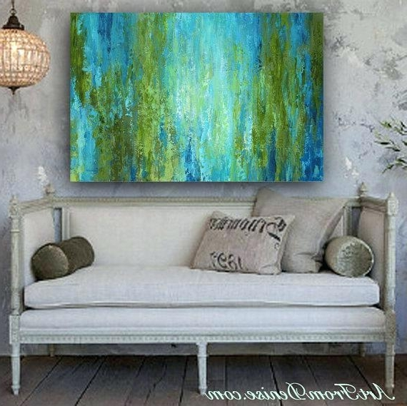 Featured Photo of Blue Green Abstract Wall Art