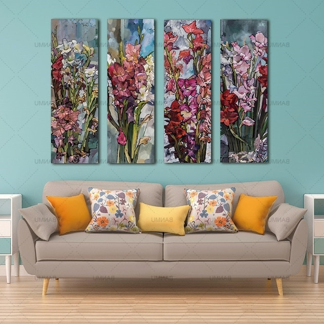 Most Recently Released Canvas Wall Art Canvas Painting Flower Painting Wall 3 Panel Wall Intended For Three Panel Wall Art (View 3 of 15)