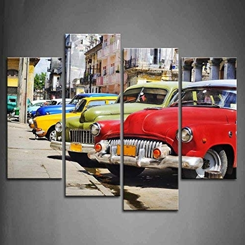 Most Recently Released Classic Car Wall Art Regarding Classic Car Wall Art: Amazon (View 8 of 15)