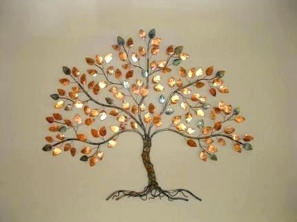 Most Recently Released Copper Metal Wall Art Wall Tree Wall Art Palm Copper Outdoor Metal Intended For Copper Outdoor Wall Art (View 11 of 15)