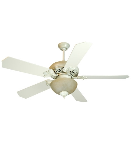 Most Recently Released Craftmade Outdoor Ceiling Fans Craftmade Within Craftmade K10325 Mia 52 Inch Antique White Distressed With Antique (View 11 of 15)