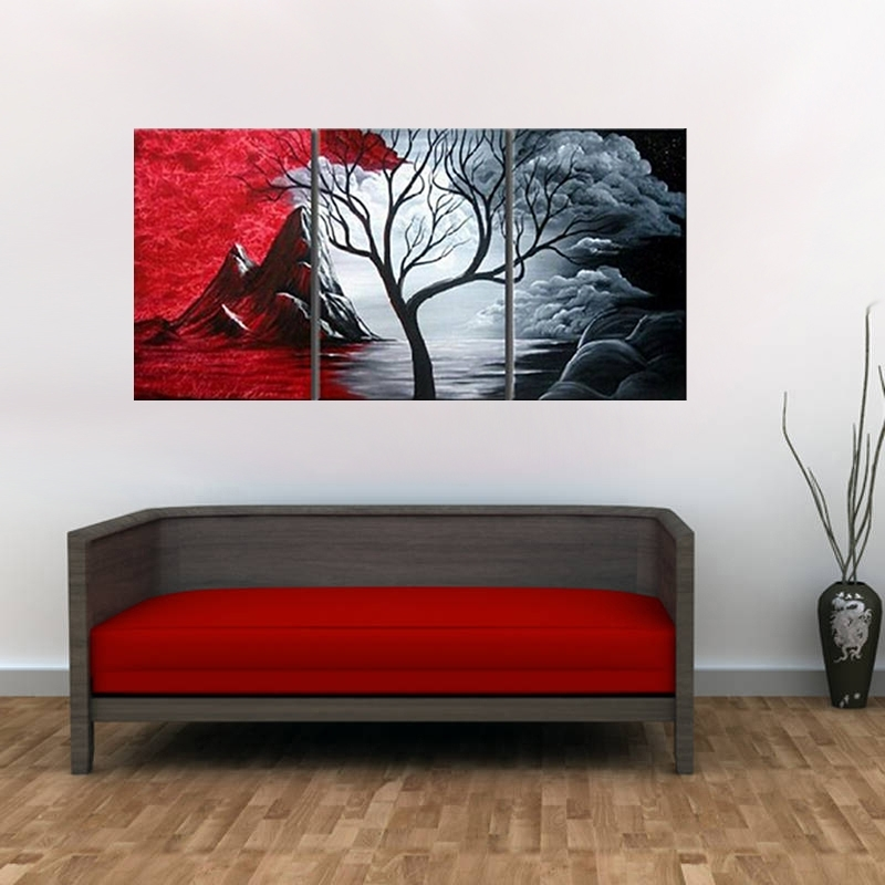 Most Recently Released Diy Modern Abstract Wall Art Within Great Home Decor Painting Modern Abstract Wall Landscape Canva Art (View 13 of 15)