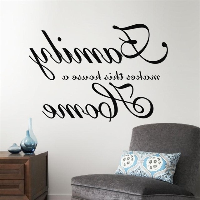 Most Recently Released Family Photo Wall Art With Regard To Home Garden Family Wall Art Quote Wall Sticker Vinyl Decal Home Art (View 11 of 15)