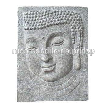Most Recently Released Fiberglass Cement 3D Buddha Sculpture Wall Hanging – Buy 3D Buddha Intended For 3D Buddha Wall Art (View 9 of 15)