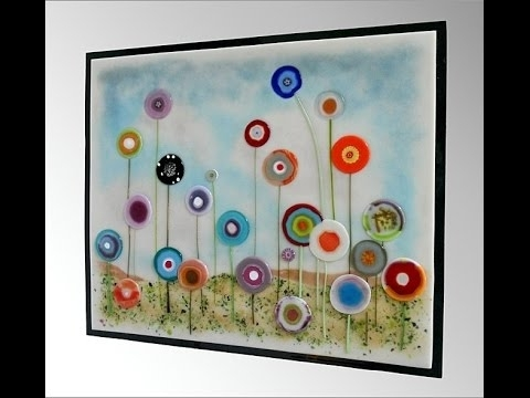 Most Recently Released Fused Glass Wall Art Hanging Inside Hanging Glass On Walls – Youtube (View 13 of 15)
