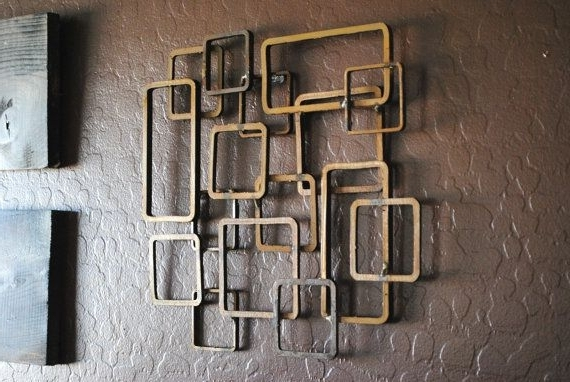 Most Recently Released Geometric Modern Metal Abstract Wall Art For Modern Metal Wall Art – Fallow (View 9 of 15)