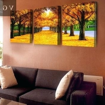 Most Recently Released Groupon Wall Art With Regard To 3 Panel Canvas Wall Art High Resolution Landscape Painting 3 Panel (View 12 of 15)