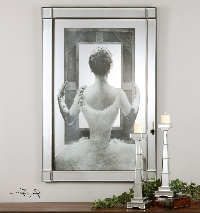 Most Recently Released Mirrored Frame Wall Art For This Artwork Is Actually Printed On The Backside Of A Mirror Then (View 10 of 15)