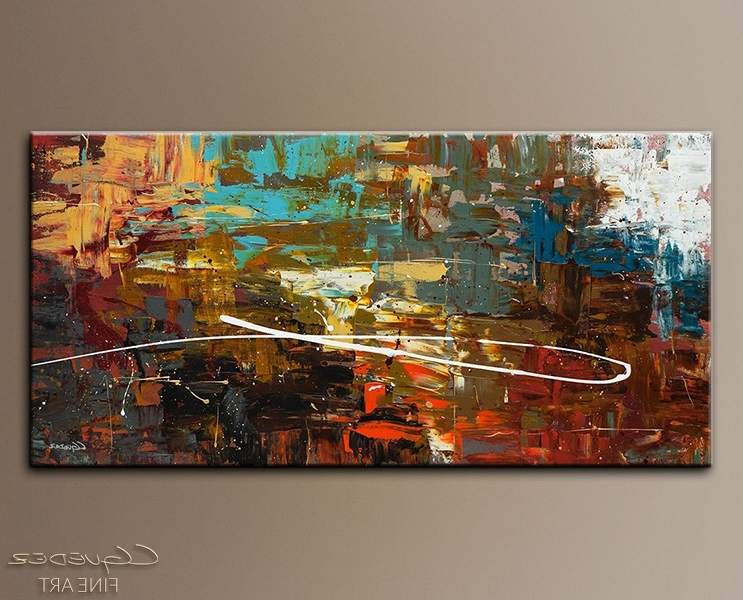 Most Recently Released Modern Abstract Wall Art Painting Intended For Modern Abstract Art Painting For Sale – A Dream Come True – Hand (View 15 of 15)