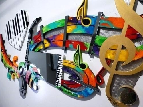Most Recently Released Music Wall Art Music Note Canvas Set Wall Art Music Wall Art Within Abstract Music Wall Art (View 12 of 15)