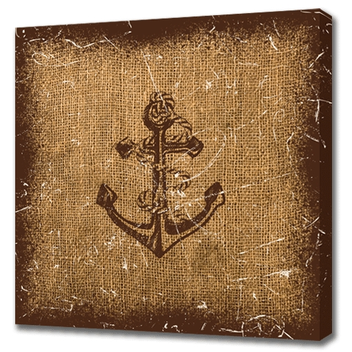 Most Recently Released Nautical Canvas Wall Art Pertaining To Nautical Anchor Canvas Wall Art 24× (View 9 of 15)