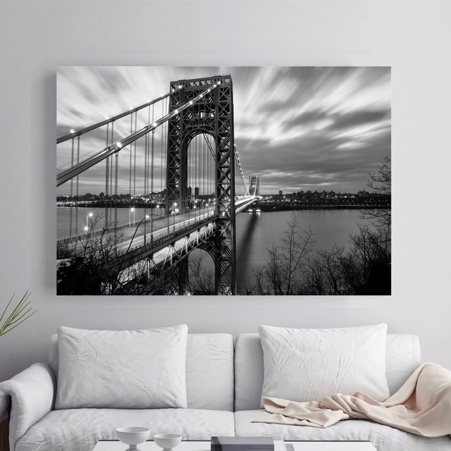 Most Recently Released New York 3D Wall Art Intended For New York 3D Room Wallpaper Landscape Canvas Art Print Painting (View 6 of 15)