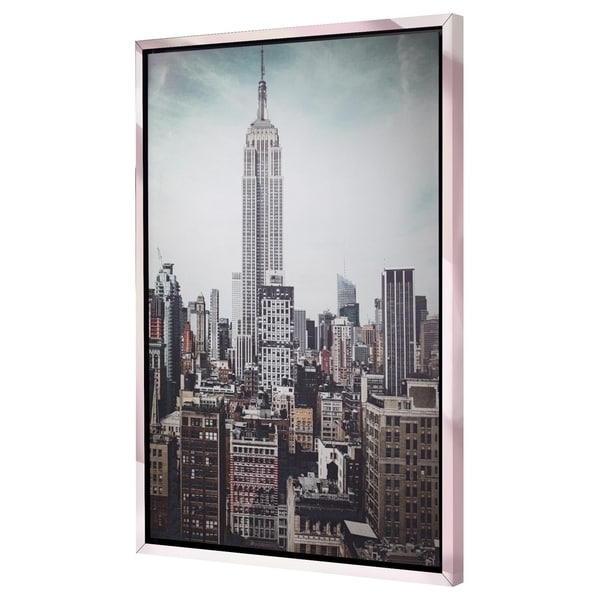 Most Recently Released New York City Canvas Wall Art For Shop Discontinued – New York City Empire State Building Framed (View 8 of 15)