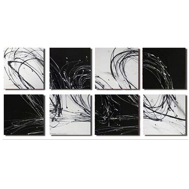 Most Recently Released Oversized Abstract Canvas Wall Art Sets For Black And White Wall Art Sets (View 11 of 15)