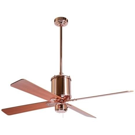 """Most Recently Released Paint The Fins? 52"""" Industry Polished Copper Ceiling Fan (View 9 of 15)"""
