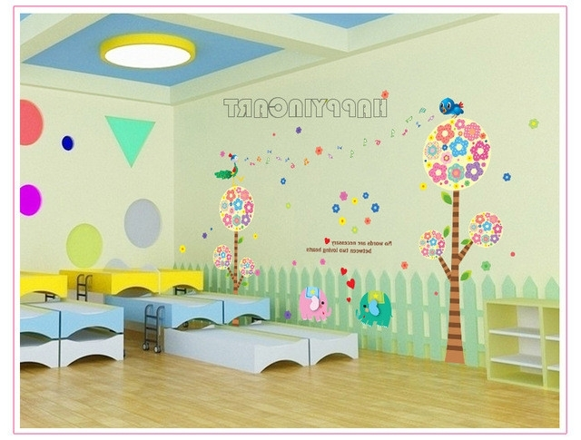 Most Recently Released Preschool Classroom Wall Decals With Regard To Removable Children S Living Room Bedroom Classroom Preschool Decal (View 5 of 15)