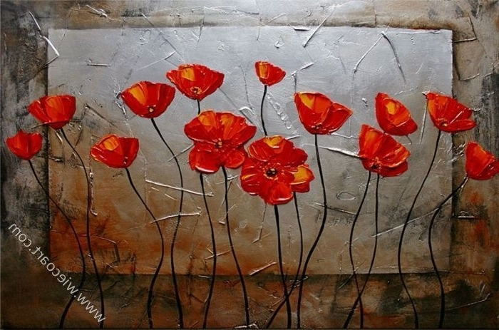 Most Recently Released Red Poppy Canvas Wall Art In Red Poppy Canvas Wall Art Elitflat Stuning (View 10 of 15)
