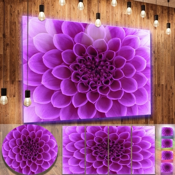 Most Recently Released Shop Designart 'light Purple Abstract Flower Petals' Modern Floral With Abstract Flower Metal Wall Art (View 12 of 15)