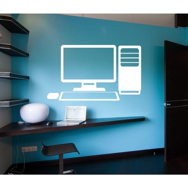 Most Recently Released Shop Desktop Computer Wall Art Sticker Decal White – Ships To Canada Intended For Computer Wall Art (View 11 of 15)