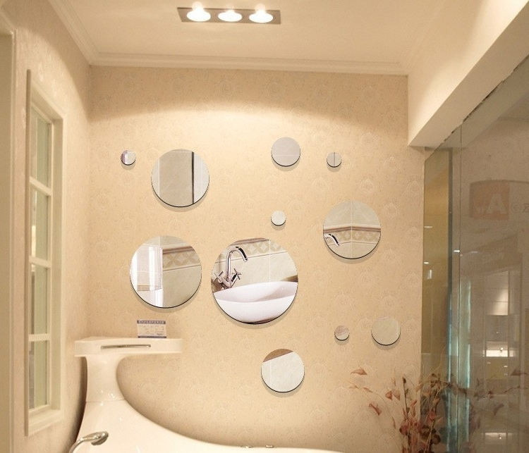 Most Recently Released Small Round Mirrors Wall Art Within Gallery: Small Mirror Wall Decor, – Longfabu (View 15 of 15)