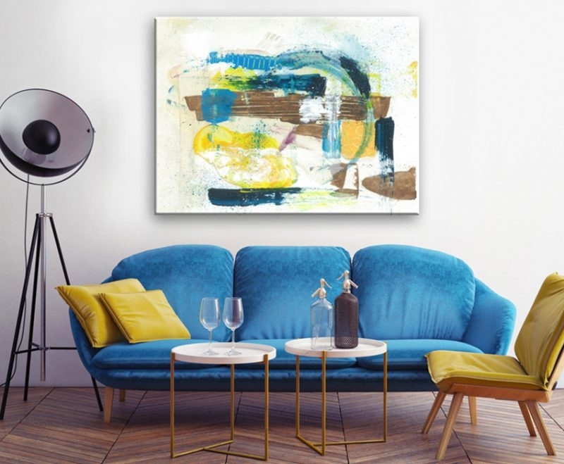 Most Recently Released Sofa Size Wall Art Inside Quick Tips For Choosing The Right Size Wall Art – Hayneedle (View 9 of 15)