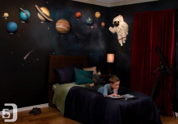 Most Recently Released Solar System With Space Astronaut 3D Wall Art Decor – (Richmond) For For Vancouver 3D Wall Art (View 11 of 15)