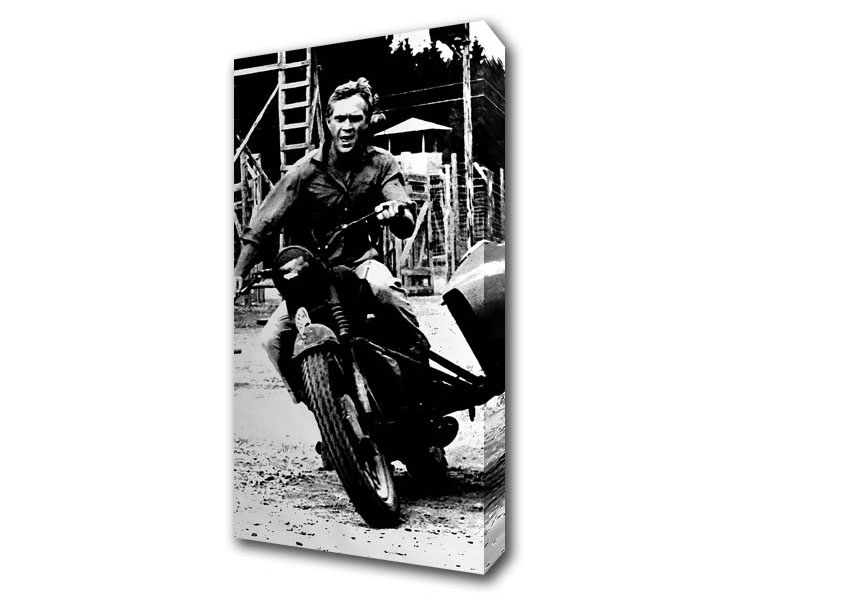 Most Recently Released Steve Mcqueen Wall Art Regarding Steve Mcqueen Motorbike People Wide Panel Canvas Wide Canvas (View 5 of 15)