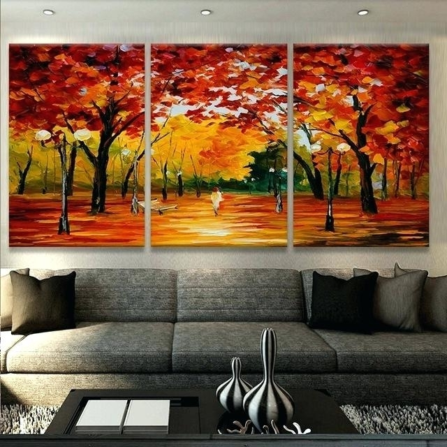 Most Recently Released Street Scene Wall Art Regarding Street Scene Wall Art Canvas Oil Print Painting 3 Panel Wall Art (View 6 of 15)