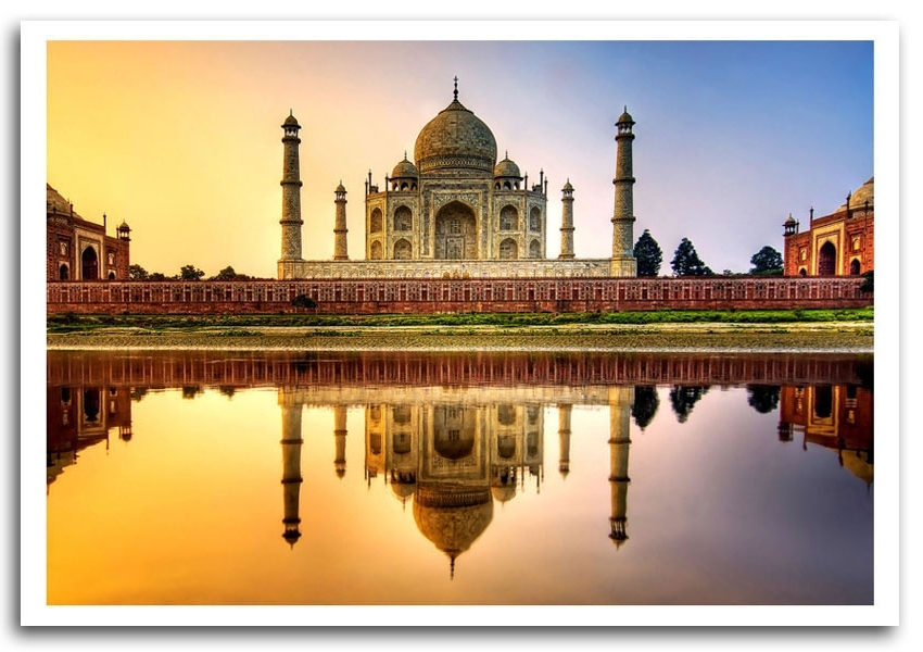 Most Recently Released Taj Mahal India Hdr Architecture Framed Art Giclee Art Print Within Taj Mahal Wall Art (View 13 of 15)