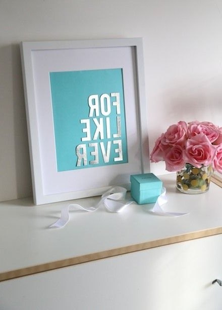 Most Recently Released Tiffany And Co Wall Art Regarding Budget Diy: Make Chic Wall Art With Your Tiffany & Co (View 9 of 15)