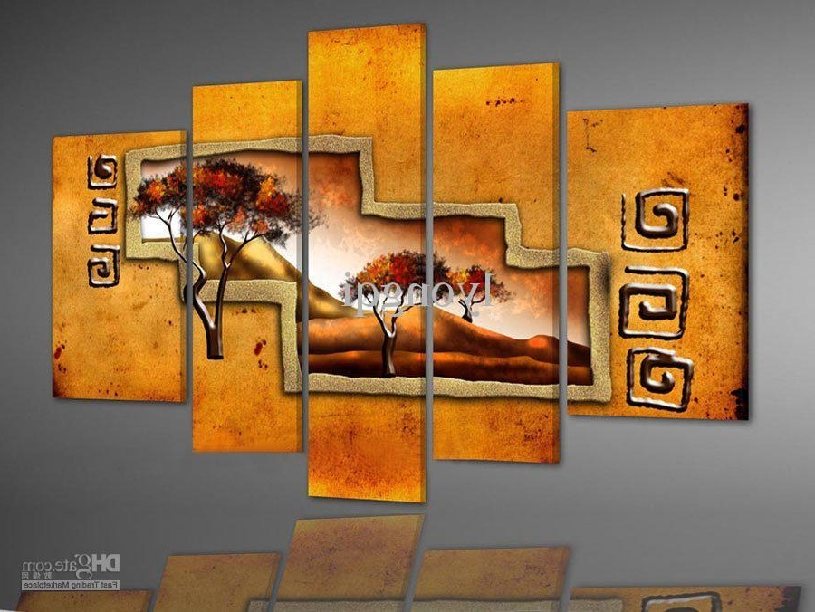 Most Up To Date 2018 Hand Painted Hi Q Modern Wall Art Home Decorative Abstract Within Abstract African Wall Art (View 10 of 15)