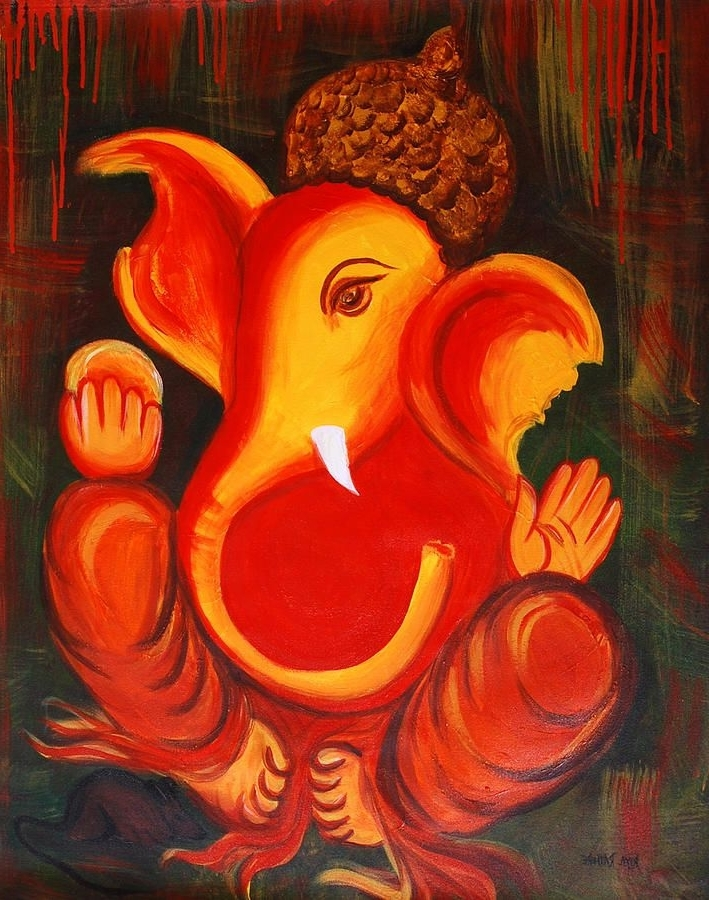 Most Up To Date 25 Beautiful Paintings Of Lord Ganesha (View 8 of 15)