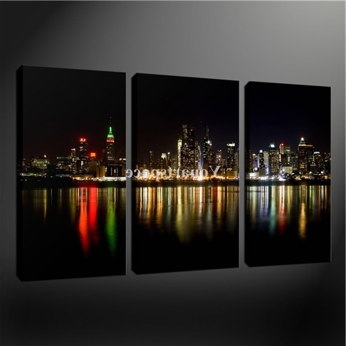 Most Up To Date 3 Piece Wall Art Painting Print On Canvas The Picture Black White Throughout New York Skyline Canvas Black And White Wall Art (View 8 of 15)