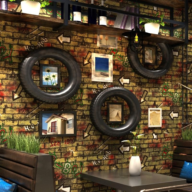 Most Up To Date 3D Brick Wall Art Regarding Vintage 3D Brick Pattern Wallpaper Red Brick Wall Personality (View 11 of 15)