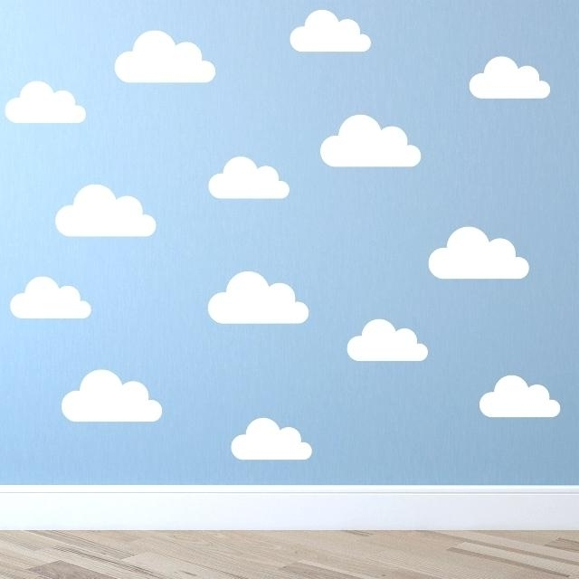 Most Up To Date 3D Clouds Out Of Paper Wall Art Cloud Wall Decor C Set Of Cute Pertaining To 3D Clouds Out Of Paper Wall Art (View 8 of 15)