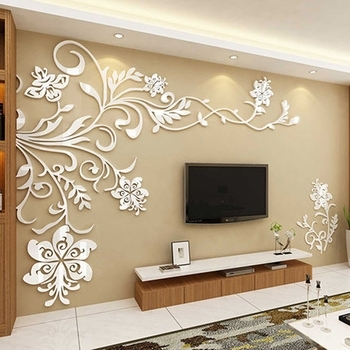 Most Up To Date 3D Wall Decals & Stickers, Modern Wall Art Decor – Homerises In Unique 3D Wall Art (View 6 of 15)