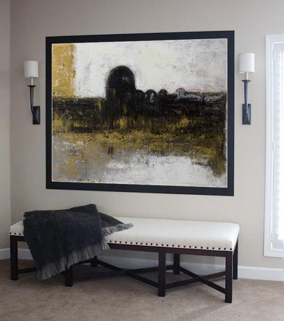 Most Up To Date Abstract Horizon Wall Art Pertaining To Abstract Painting, Contemporary Art, Handmade Large Wall Art, Extra (View 12 of 15)